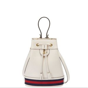 Gucci Ophidia Bucket Bag White Leather Small NWOT
